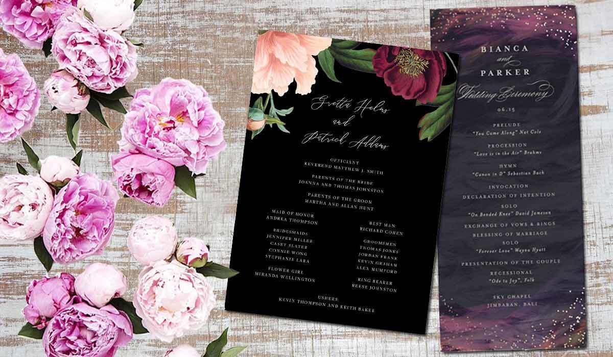 Beautiful Wedding Programs to Match Your Themed Ceremony