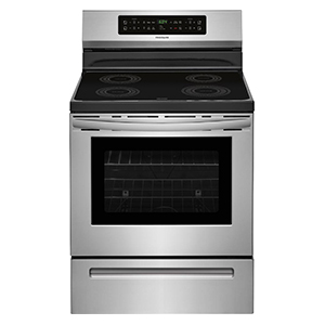 Stainless-steel induction range from Frigidaire photo