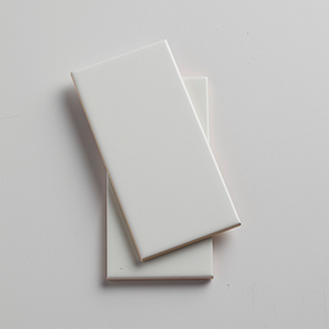 White ceramic tile from Lowes photo