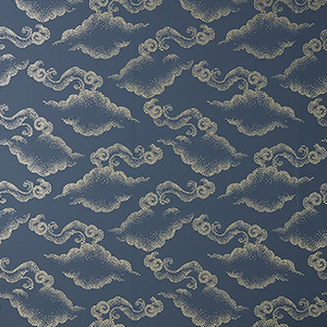 Navy wallpaper with gray cloud swirls on it photo