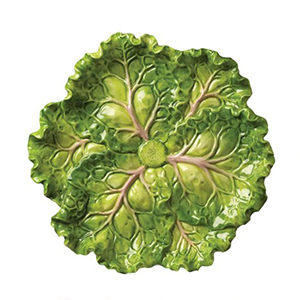 Green cabbage plate photo