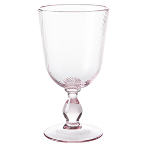 Light pink footed goblet photo