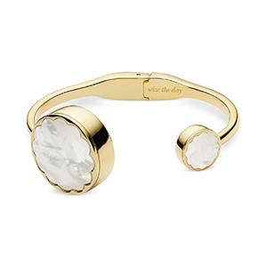 Gold bracelet with activity tracker by Kate Spade photo