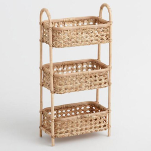 Natural rattan storage tower from World Market photo