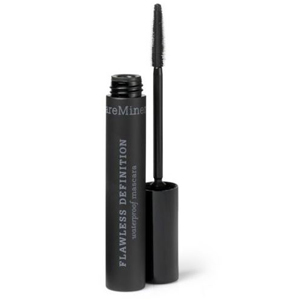 Tube of black waterproof mascara by Bare Minerals with a normal-shape wand. photo