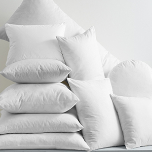 White goose feather and down pillow inserts photo