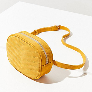 Yellow quilted belt bag from Urban Outfitters photo
