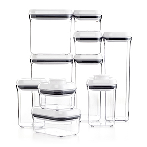 10 different sized pop containers from OXO photo