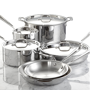 Stainless-steel cookware set at Macy's photo