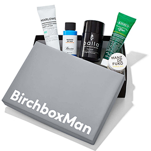BirchboxMan box filled with grooming samples photo
