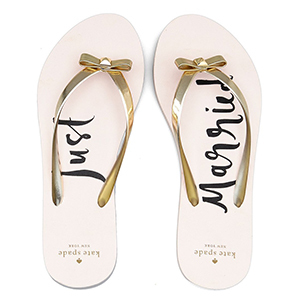 Blush sandals with metallic gold straps and