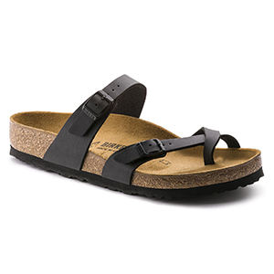 Birkenstock sandals with criss-cross straps and cork sole photo