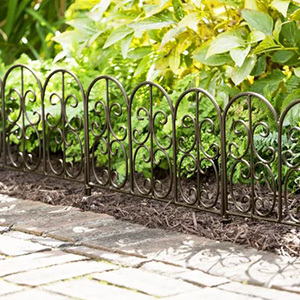 Iron edging fence for your garden photo
