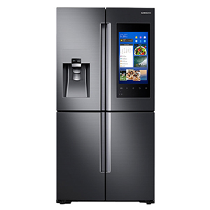 Samsung smart refrigerator with touch screen photo