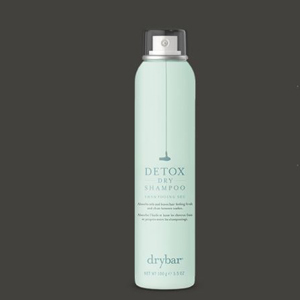 Mint green can of detox dry shampoo. photo