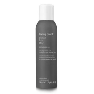 Charcoal can of Living Proof dry shampoo. photo