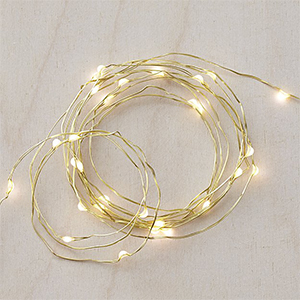 Tinkle lights on a 50-foot gold string photo