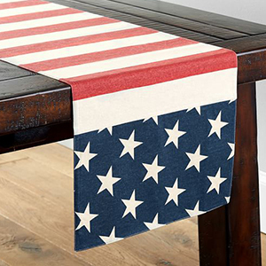 American flag table runner from Pottery Barn photo