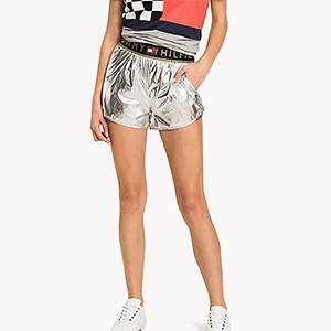 Silver metallic shorts from Tommy Hilfiger photo