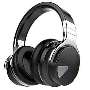 Black and silver Cowin over-ear wireless headphones photo
