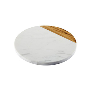 Houzz marble and teak serving board photo