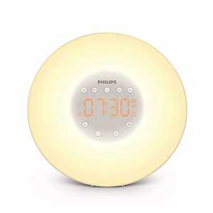 Round light alarm clock with digital display from Amazon photo