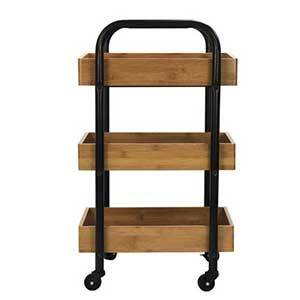 Rolling storage cart with three shelves photo