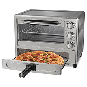 Oster Pizza Toaster Oven with pizza drawer photo