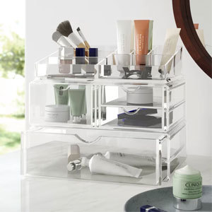 Cathy Cosmetic Organizer in clear from Wayfair photo