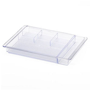 Clear expandable drawer organizer from Kohls photo
