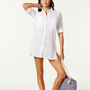 white tunic cover-up photo