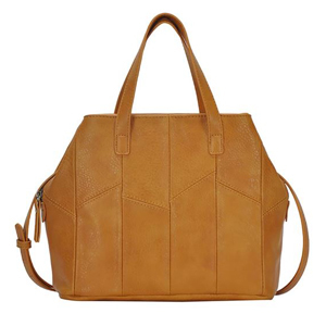 Faux leather satchel from Nordstrom with lots of storage photo