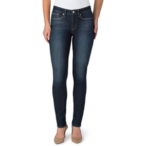 Levi's High-waisted Sculpt Jeans paired with flats photo