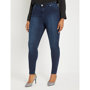 High-waisted sculpting jeans from Eloquii photo