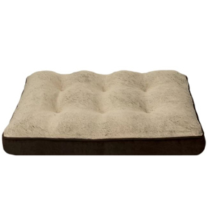 Brown Arlee orthopedic foam pillow with a soft cream top from Wayfair. photo