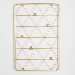Gold Wire Photo Clip Wall Panel from World Market photo