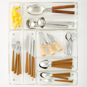 Linus Shallow Drawer Organizers from The Container Store photo