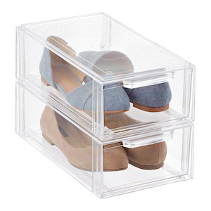 Clear Shoe Drawer organizers from The Container Store photo