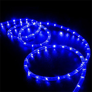 LED rope lights in blue from Walmart photo