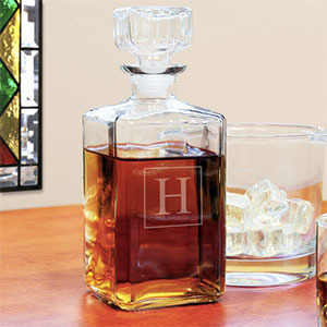 personalized glass decanter photo
