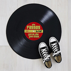 Personalized record doormat photo