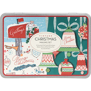DIY vintage Christmas card tin kit from Paper Source. photo