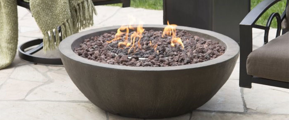 Rounded Bowl Gas Fire Pit photo