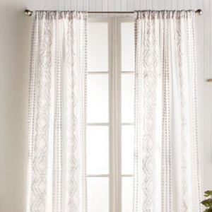 Single panel geometric curtains in lilac from Nordstrom photo
