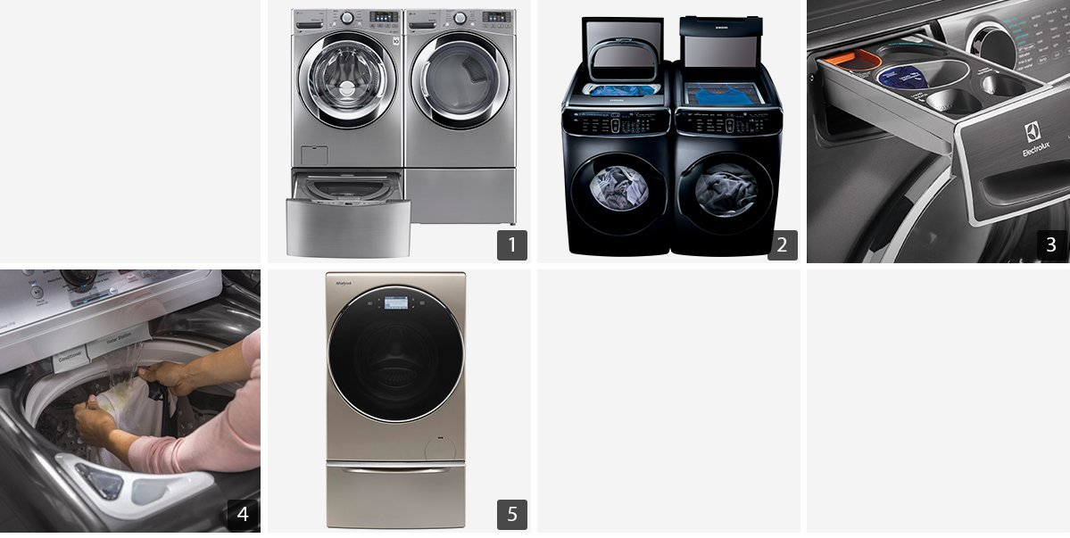 Collage of washers and dryers photo