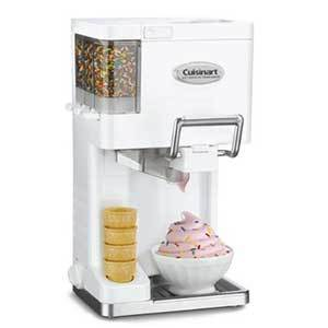 Cuisinart Soft Serve Ice Cream Maker with cone holder and condiment dispensers photo