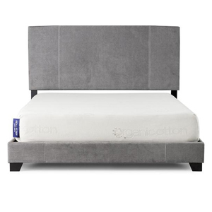 Real Sleep mattress on a gray bed frame. photo