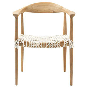 Walmart arm chair with wicker seat and wood frame photo