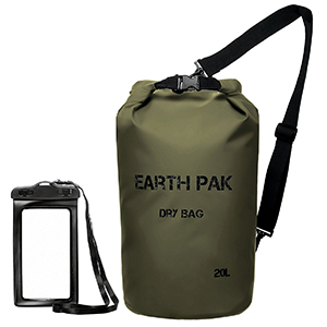 Earth Pak Waterproof Dry Bag in Forest Green photo