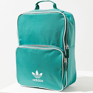 Green Adidas backpack with front pocket. photo